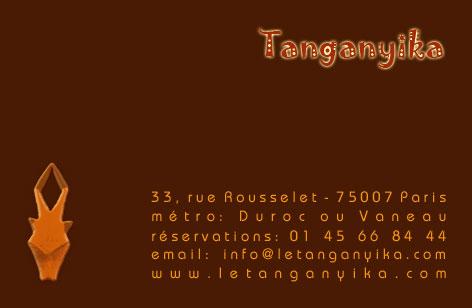 Carte de visite recto Tanganyika